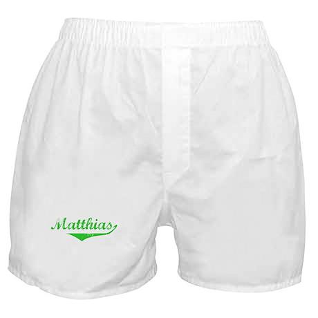 Matthias Vintage (Green) Boxer Shorts