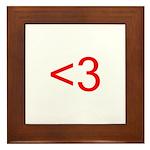 <3 Framed Tile
