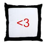 <3 Throw Pillow