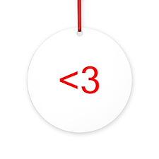 <3 Ornament (Round)