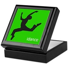 idance silhouette 3 Keepsake Box