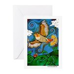 Marcy Hall's Hawk Totem Greeting Cards (Pk of 10)