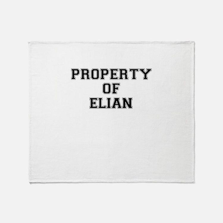 Property of ELIAN Throw Blanket