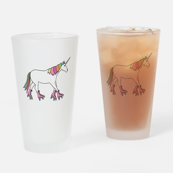Unicorn Rollerskating Drinking Glass