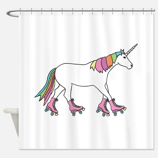 Unicorn Rollerskating Shower Curtain