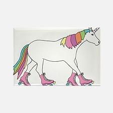 Unicorn Rollerskating Magnets