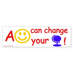 A Smile Can Change Your Life Bumper Bumper Sticker