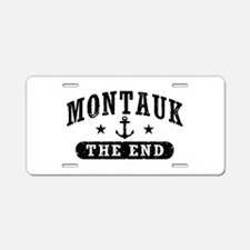 Montauk The End Aluminum License Plate