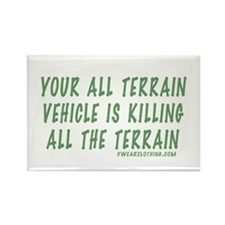 All Terrain Rectangle Magnet