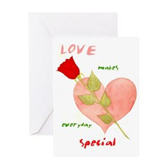 Valentine Card Love makes everyday Special - Blank
