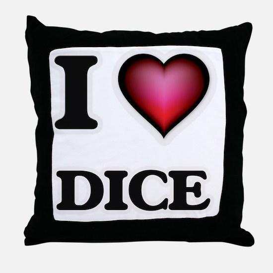 I love Dice Throw Pillow