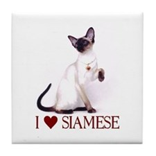 I love Siamese Tile Coaster