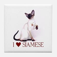 I love Siamese Tile Coaster