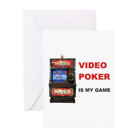 VIDEO POKER Greeting Card