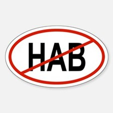HAB Oval Decal