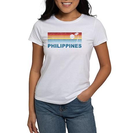 Retro Philippines Palm Tree Women's T-Shirt