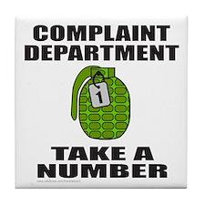 COMPLAINT DEPARTMENT Tile Coaster