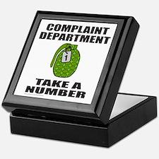 COMPLAINT DEPARTMENT Keepsake Box