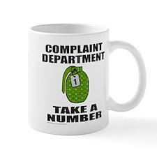 COMPLAINT DEPARTMENT Small Mug