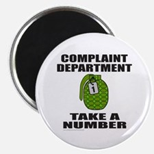 "COMPLAINT DEPARTMENT 2.25"" Magnet (100 pack)"