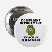 """COMPLAINT DEPARTMENT 2.25"""" Button (100 pack)"""