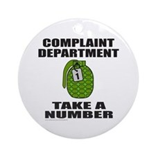 COMPLAINT DEPARTMENT Ornament (Round)