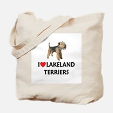 I Love Lakeland Terriers Tote Bag