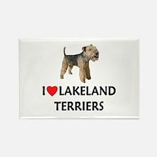 I Love Lakeland Terriers Rectangle Magnet (10 pack