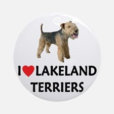 I Love Lakeland Terriers Ornament (Round)