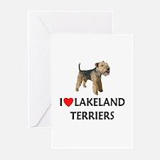 I Love Lakeland Terriers Greeting Cards (Pk of 10)