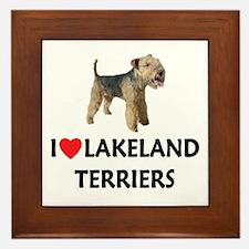 I Love Lakeland Terriers Framed Tile