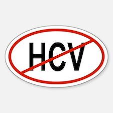 HCV Oval Decal