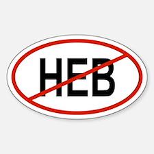 HEB Oval Bumper Stickers