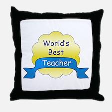 World's Best Teacher Throw Pillow