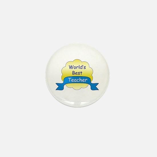 World's Best Teacher Mini Button (10 pack)