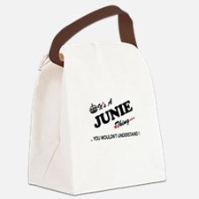 JUNIE thing, you wouldn't underst Canvas Lunch Bag