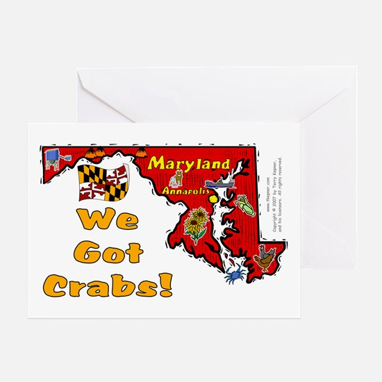 MD-Crabs! Greeting Card