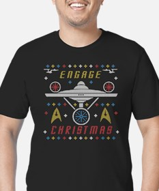 Engage Christmas Star Trek Ugly Christmas Sweater