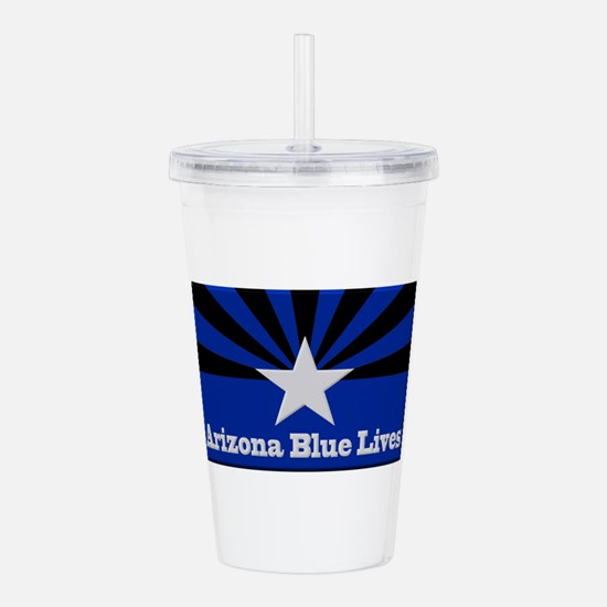 Arizona Blue Lives Acrylic Double-wall Tumbler