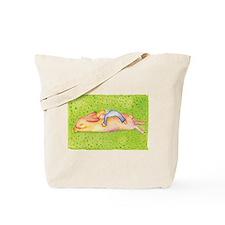 A sleeping bunny Tote Bag