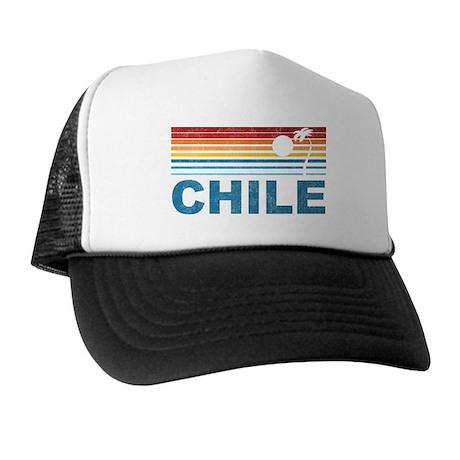 Retro Chile Palm Tree Trucker Hat