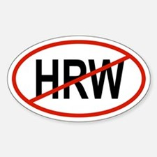 HRW Oval Decal