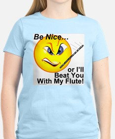 Be Nice or I'll Beat You With T-Shirt