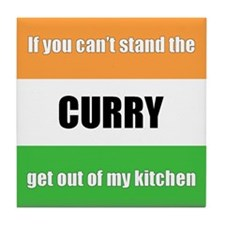 Cooking with Curry Tile Coaster