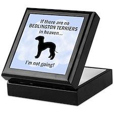 Bedlington Terriers In Heaven Keepsake Box