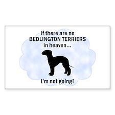 Bedlington Terriers In Heaven Sticker (Rectangular