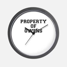 Property of OWENS Wall Clock