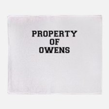 Property of OWENS Throw Blanket