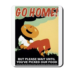 Foreigners Go Home! Mousepad