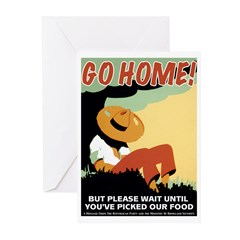 Foreigners Go Home! Greeting Cards (Pk of 10)